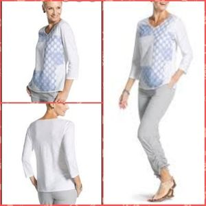 Zenergy by Chico's  Arianna Dot  Pullover Top